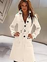 Cappotto Da donna Per uscire Inverno Semplice,Tinta unita Colletto Acrilico Rosso / Bianco / Nero / Giallo Manica lunga Spesso