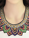Necklace Statement Necklaces Jewelry Party / Daily Fashionable / Bohemia Style Alloy / Resin / Fabric Assorted Color 1pc Gift
