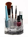 Sminkförvaring Makeup-låda / Sminkförvaring Plastic / Akrylfiber Enfärgat Rund 9.2x9.2x5.9 Bisque