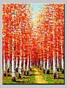 handen målade oljemålning modern abstrakt träd landskapsbilden med sträckt ram redo att hänga