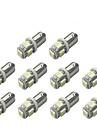 10st Ba9s 5050 5smd vit färg bil LED-ljus auto glödlampa indikator registreringsskylt karta kupol packning bil styling 12v