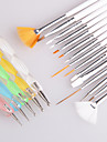 15st nagel konst pensel uppsättning + 5st spik utspridda verktyg