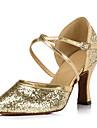 Chaussures de danse() -Non Personnalisables-Talon Bobine-Flocage-Modernes