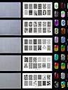5pc / set plast vita miljö vackra spik stämpling plattor med mode mönster. (Kd-sm612-006-007-008-009-010)