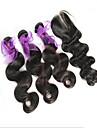 3 buntar peruanska jungfru hår förkroppsligar vinkar av nedläggning obearbetat människohår väva och gratis / mellan nedläggningar / 3 del