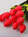 1 10 Une succursale Polyester / Plastique Tulipes Fleur de Table Fleurs artificielles 13.7incm/35cm