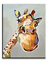 Peint a la main Animal Modern / Classique / Traditionnel / Realisme / Mediterraneen / Pastoral / Style europeen,Un Panneau ToilePeinture