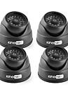 kingneo kd102-41 ir dummy kamera dome simulerade säkerhetsövervakning kamera 4st svart