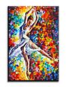 HANDMÅLAD Människor Europeisk Stil / Moderna / Klassisk / Traditionellt / Realism / Medelhavet / Parfymerad,En panel KanvasHang målad