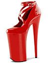 Homme-Mariage Soiree & Evenement-Noir Rouge Blanc-Talon Aiguille Plateforme-A Plateau-Chaussures a Talons-Cuir Verni