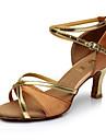 Chaussures de danse(Noir / Bleu / Marron / Rouge) -Personnalisables-Talon Personnalise-Satin / Similicuir-Latine