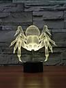 fantastiska 3d illusion bordslampa nattlampa med diamantring form med 7 färg ljus färg förändras nattlampa