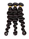 Tissages de cheveux humains Cheveux Bresiliens Ondulation Lache 12 mois 3 Pieces tissages de cheveux