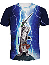Inspire par Cosplay Cosplay Manga Costumes de Cosplay Cosplay T-shirt Imprime Manche Courtes Manches Ajustees Pour