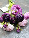 1 Une succursale Polyester Roses Fleur de Table Fleurs artificielles 42cm