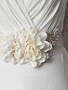 Satin Nunta / Party/Seara / Zilnice Cercevea-Aplicații / Perle / Florale / Ștrasuri Dame 98 ½in(250cm)Aplicații / Perle / Florale /