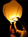mariage souhaitant avec bougie feu chinois voler papier ciel kongming flottant lanterne couleur aleatoire
