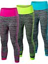 Femme Course / Running Corsaire Leggings Sechage rapide Compression Confortable Printemps Ete AutomneYoga Exercice & Fitness Basket-ball