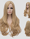 boucles d\'or lumiere, europeen mode chaud nouvelle frange obliques longs cheveux boucles.