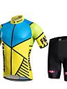 fastcute Maillot et Cuissard de Cyclisme Femme Homme Enfant Unisexe Manches courtes VeloCuissard / Short Pantalon/Surpantalon Shirt