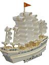 Pussel 3D-pussel / Träpussel Byggblock DIY leksaker Fartyg Wood Guld Modell- och byggleksak