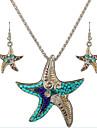 Set bijuterii Plastic Reșină Aliaj La modă Personalizat Argintiu Verde Colier / cercei Zilnic Casual 1set Coliere ΣκουλαρίκιαCadouri de