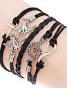 Bărbați Dame Bratari Wrap loom brățară Strat dublu Bohemia Stil Ajustabile Aliaj Geometric Shape Iubire Ancoră Bijuterii PentruZilnic