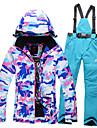 Tenue de Ski Anorak pour Ski/snowboard / Ensemble de Vetements/Tenus Femme Tenue d\'Hiver Polyester camouflage Vetement d\'HiverEtanche /