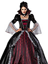Costumes de Cosplay Costume de Soiree Esprit Zombie Vampire Fete / Celebration Deguisement d\'Halloween Rouge/noir Retro Robe Collier
