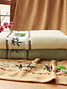 Badhandduk-100% Bambufiber-Jacquard-70*140cm
