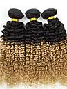 """300g / lot 18 """"brazilian cheveux vierges profonde vague humaine cheveux couleur deux premieres de tonalite 1b / 27 friser les cheveux tisse"""