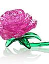 Pussel 3D-pussel Kristallpussel Byggblock GDS-leksaker Roser ABS Silver Brun Orange Vit Modell- och byggleksak