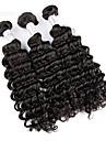 3pcs lot 100% bresilienne de cheveux boucles vierge profondes ondes humains extensions de cheveux naturels de tissage de cheveux noirs