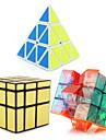 Yongjun® Cube de Vitesse  3*3*3 Pyraminx Extraterrestre Miroir Niveau professionnel Cubes magiques Blanc Autocollant lisse YulongAnti-pop