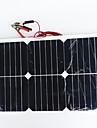 zdm® 20w 12v sortie panneau solaire 1.35A de silicium monocristallin (dc12-18v)