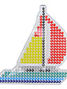 1pcs modele tendance claire perles Perler de bateau a voile pour panneau perfore perles hama 5mm fusionnent perles