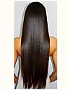 ny brasiliansk främre spets människohår peruker naturliga raka peruker för svarta kvinnor grossistpriset