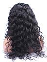 """8 """"-24"""" 6a brasilianska jungfru hår lös våg 120% densitet spets front peruk lösa lockiga människohår peruker för svarta kvinnor"""