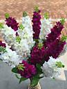 1 1 Une succursale Polyester / Plastique Violet Fleur de Table Fleurs artificielles 31.4inch/80cm