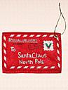 1st jultomten brev kuvert jultreegarnering hängande hängande inomhus bankett partitillförsel