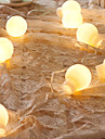 NO 5 M 20 Dip LED Varmt vit Vattentät W Ljusslingor AC220 V