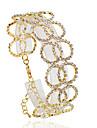 Brățări Brățări cu Lanț & Legături Aliaj Circle Shape La modă Nuntă / Petrecere / Zilnic / Casual Bijuterii Cadou Auriu / Argint,1 buc