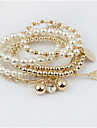 Dame Brățări cu Talismane Bratari Strand Bratari Wrap Strat dublu Imitație de Perle La modă Adorabil Perle Aliaj Bijuterii Bijuterii