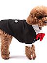 Hundar Dräkter/Kostymer / Smoking Svart Hundkläder Vinter / Vår/Höst Enfärgat Bröllop / Cosplay