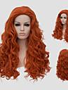 Perruques sans bonnet Perruques pour femmes Orange Perruques de Costume Perruques de Cosplay