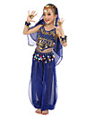 Belly Dance Outfits Children\'s Performance Chiffon Polyester Gold Coins 6 Pieces Fuchsia / Light Blue / Purple / Royal