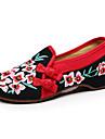 Dame Pantofi Flați Primăvară Vară Toamnă Confortabili Pantofi brodate Pânză Casual Toc Plat Flori Negru Verde Plimbare
