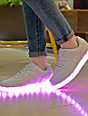 Homme-Decontracte-Blanc-Talon Plat-Confort Light Up Chaussures-Ballerines-Polyurethane