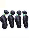 4st / lot 12-26 tum obearbetade brasilianskt remy virgin hår naturligt svart ägg curl människohår väver
