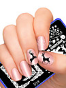 Nail Art Stamping Plate Stamper Scraper 12X6CM